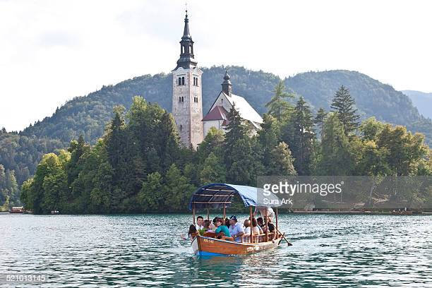 Bled Island in Lake Bled with its church Bled Slovenia taken on 7/16/2011