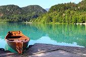 Boats at Bled lake, Slovenia