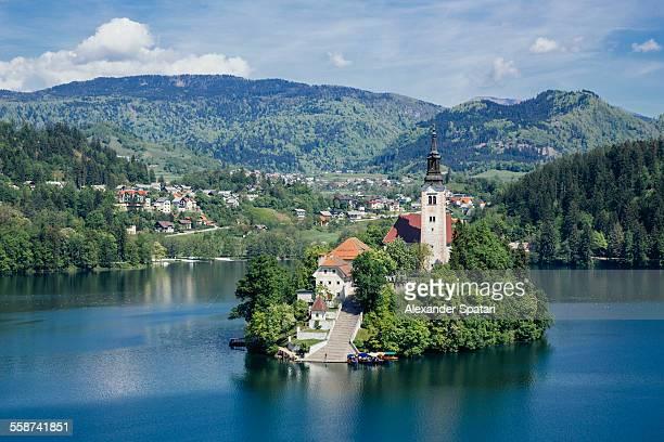 Bled, Slovenia. Church on Bled Island