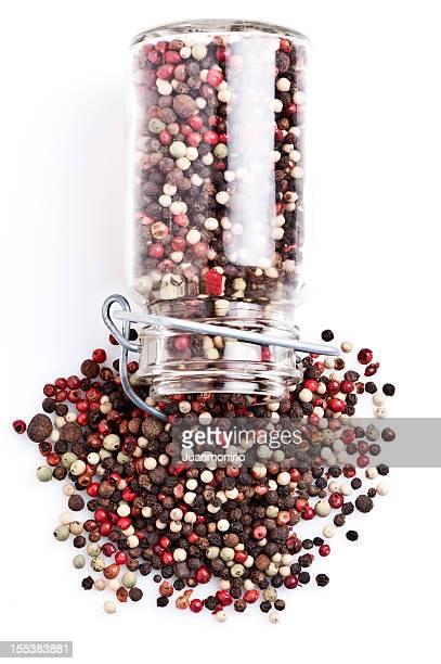 Combinación de peppercorns primer plano