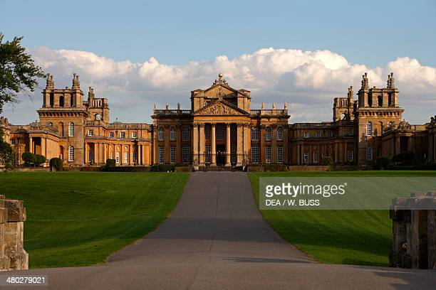 Blenheim Palace 17051722 English Baroque style architect John Vanbrugh birthplace of Winston Churchill Woodstock Oxfordshire United Kingdom