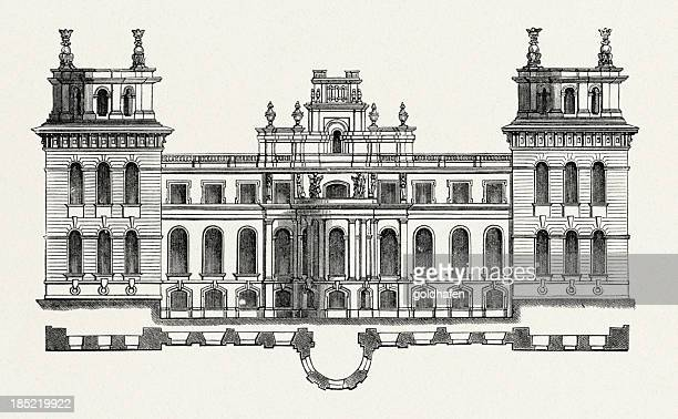 Blenheim Palace, Oxfordshire, Inghilterra -Front
