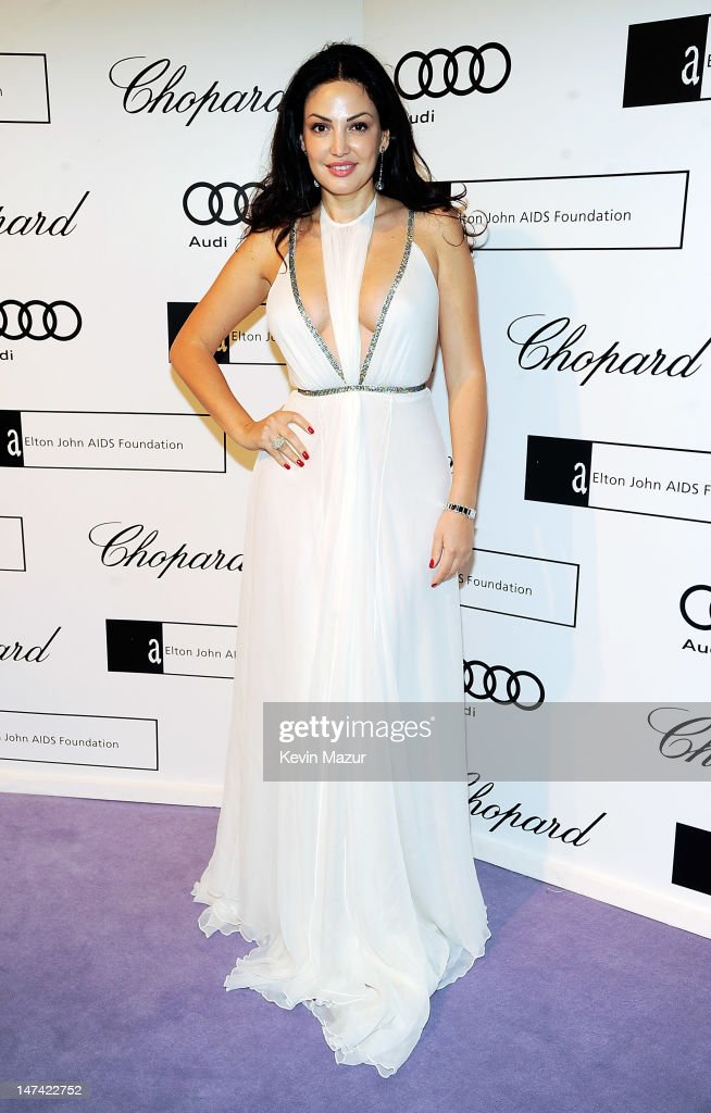 Bleona Qereti arrives at The 14th Annual White Tie and Tiara Ball to Benefit Elton John AIDS Foundation in Association with Chopard at Woodside on June 28, 2012 in Windsor, England. NO UK SALES BEFORE 17TH JULY 2012. NO HELLO, NOW, CLOSER, REVEAL, HEAT, LOOK OR GRAZIA SALES IN THE UK EVER. NO ITALY SALES BEFORE 4TH JULY 2012, NO SPAIN SALES BEFORE 7TH JULY 2012, NO MEXICO SALES BEFORE 1ST AUGUST 2012. All pictures are for editorial use only and mention of 'Chopard' and 'The Elton John Aids Foundation' are compulsory. No sales ever to any jewellers other than Chopard