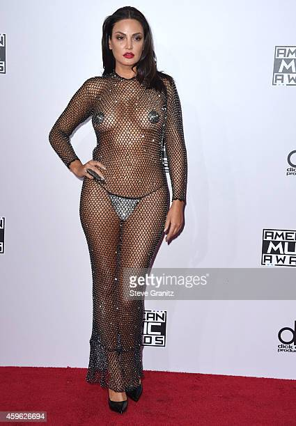Bleona Qereti arrives at the 2014 American Music Awards Arrivals at Nokia Theatre LA Live on November 23 2014 in Los Angeles California