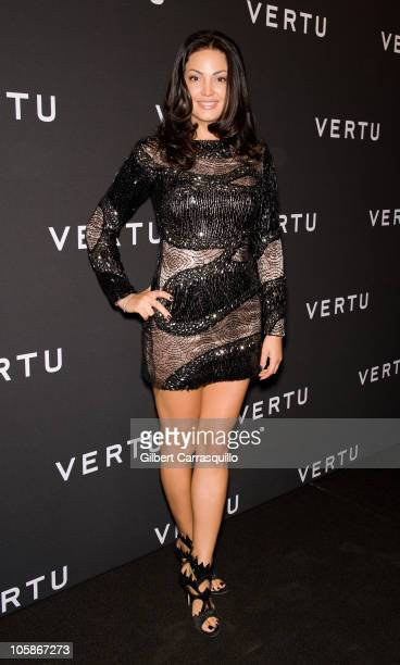 Bleona Qereti attends the launch of Vertu's smartphone at Berry Hill Galleries on October 20 2010 in New York City
