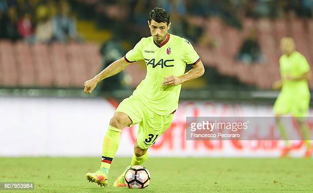 Blerim Dzemaili of Bologna FC in action during the Serie A match between SSC Napoli and Bologna FC at Stadio San Paolo on September 17 2016 in Naples...