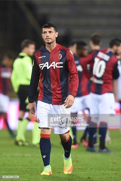 Blerim Dzemaili of Bologna FC looks dejected at the end of the Serie A match between Bologna FC and Atalanta BC at Stadio Renato Dall'Ara on November...