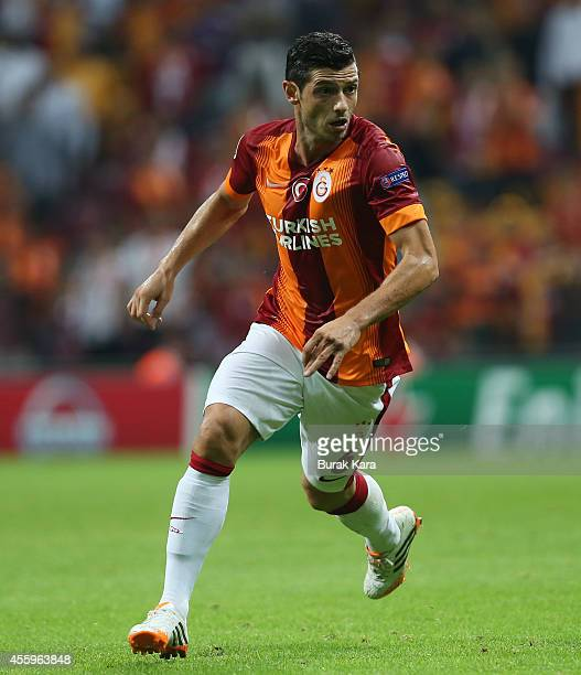 Blerim Dzemaili of Galatasaray runs during the UEFA Champions League group D match between Galatasaray AS and RSC Anderlecht on September 16 at TT...
