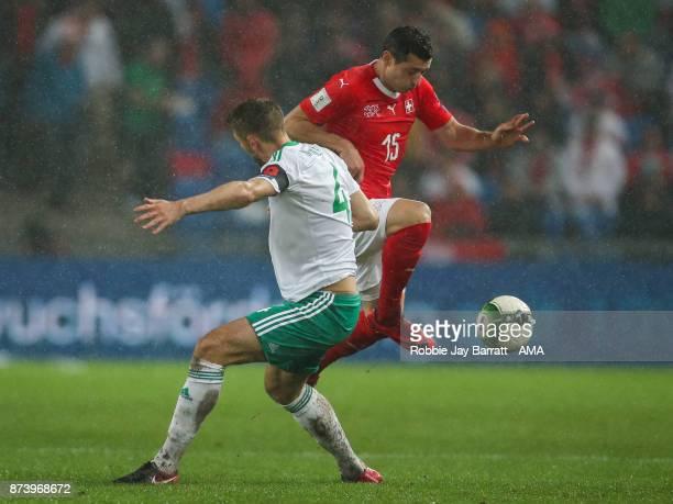 Blerim Dzemaili of Switzerland during the FIFA 2018 World Cup Qualifier PlayOff Second Leg between Switzerland and Northern Ireland at St JakobPark...