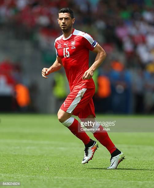 Blerim Dzemaili of Switzerland during the UEFA EURO 2016 Round of 16 match between Switzerland v Poland at Stade GeoffroyGuichard on June 25 2016 in...
