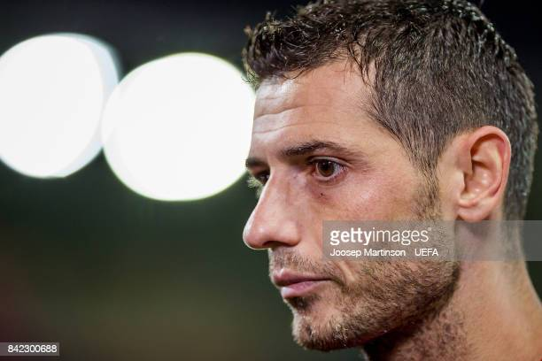 Blerim Dzemaili of Switzerland looks on after the FIFA 2018 World Cup Qualifier between Latvia and Switzerland at Skonto Stadium on September 3 2017...