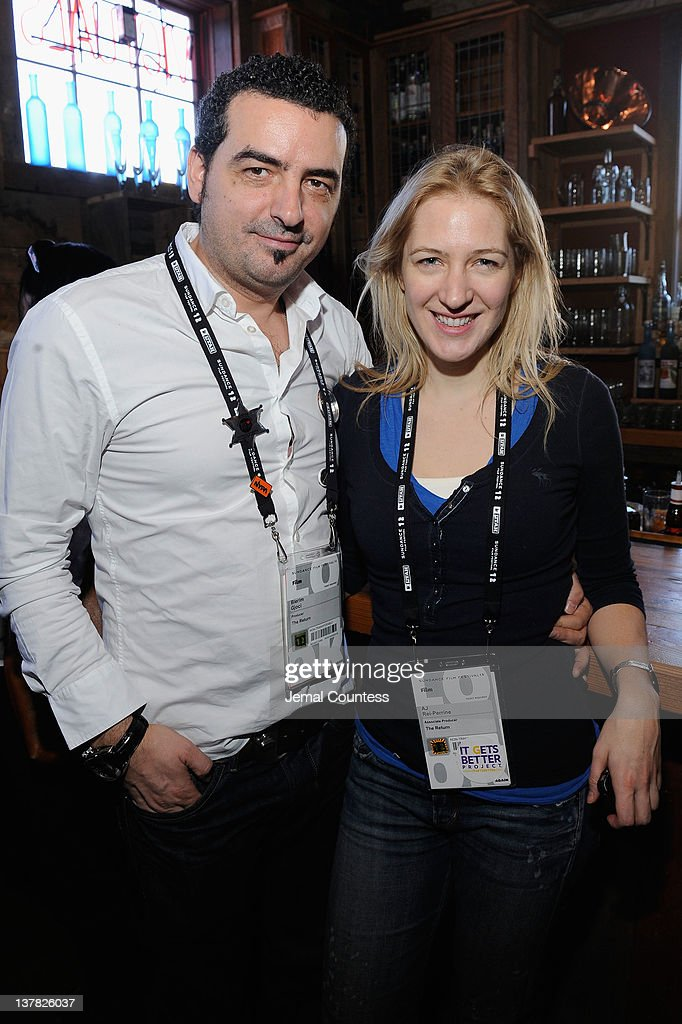 Blerim Gjoci and AJ Rei-Perrine attend the Alfred P. Sloan Foundation Reception & Prize Announcement during the 2012 Sundance Film Festival on January 27, 2012 in Park City, Utah.
