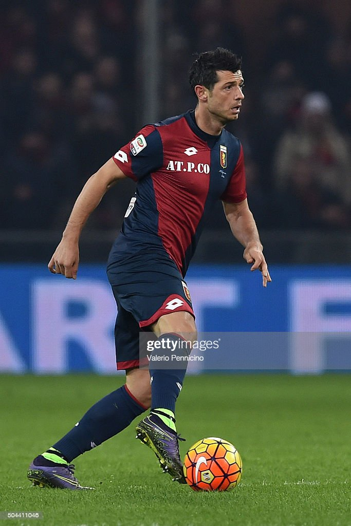 Blerin Dzemaili of Genoa CFC in action during the Serie A match between Genoa CFC and UC Sampdoria at Stadio Luigi Ferraris on January 5, 2016 in Genoa, Italy.