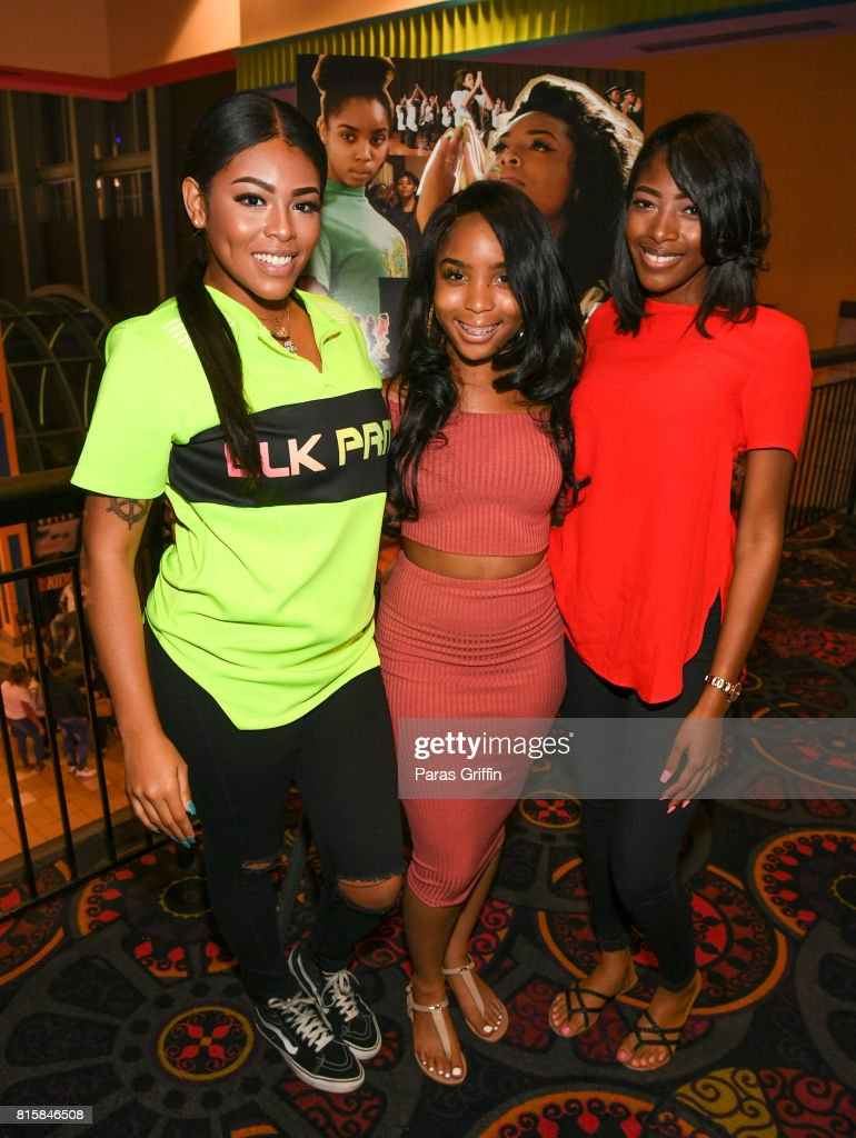 Blessin Giraldo, Tayla Solomon, and Cori Grainger at 'Step' documentary Atlanta Screening at Regal Cinemas Atlantic Station Stadium 16 on July 16, 2017 in Atlanta, Georgia.
