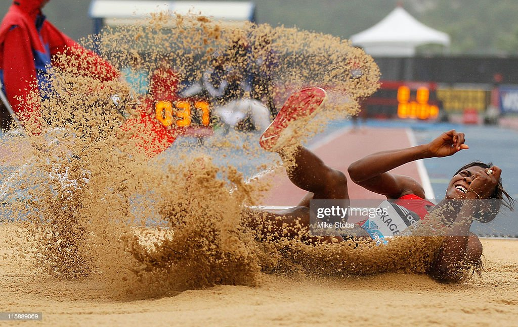 <a gi-track='captionPersonalityLinkClicked' href=/galleries/search?phrase=Blessing+Okagbare&family=editorial&specificpeople=5496695 ng-click='$event.stopPropagation()'>Blessing Okagbare</a> of NGR attempts competes in the Women's Long Jumps during the adidas Grand Prix at Icahn Stadium on June 11, 2011 in New York City.