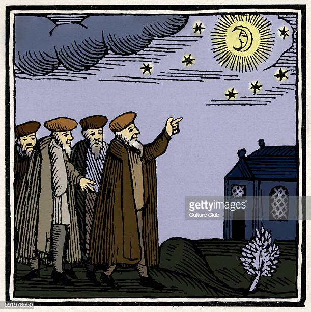 Blessing on the new moon Drawing from 1695 Amsterdam Passover Hagadah