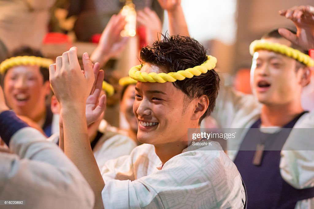 Blessing their own success - Sawara Autumn Festival : Stock Photo