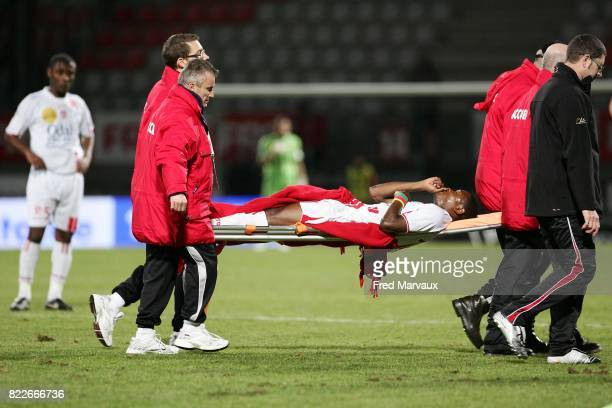Blessure Paul ALO'O EFOULOU Nancy / Grenoble 26e journee Ligue 1 Stade Marcel Picot