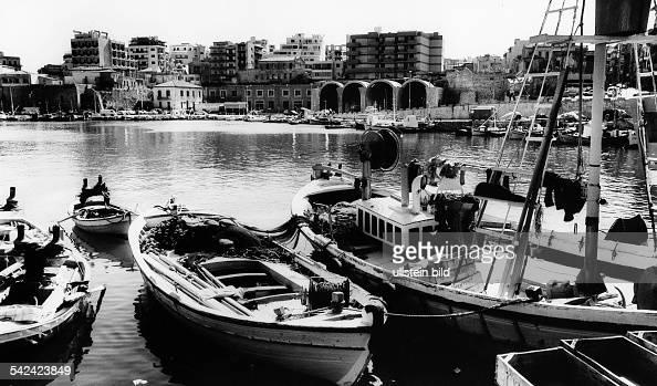 Blick auf Heraklion vom kleinen Hafen aus 1982