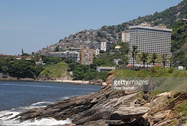 Blick auf 'Sheraton'Hotel Am Meer Strand Tour durch die Favelas Rio de Janeiro Brasilien Südamerika Reise NB DIG ProdNr 329/2007