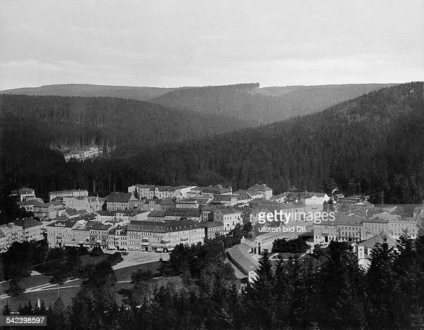 Blick vom Aussichtsturm über dieStadt 1898Foto Stengel Co