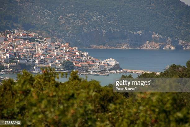 Blick vom Haus von Ivan Rebroff Ägäisches Meer Ägäis Insel Skopelos Griechenland Europa Reise