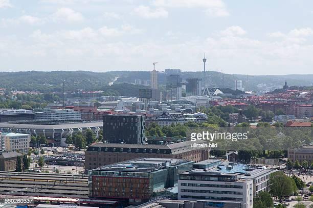 Blick vom 'Lippenstift' Hochhaus über Göteborg
