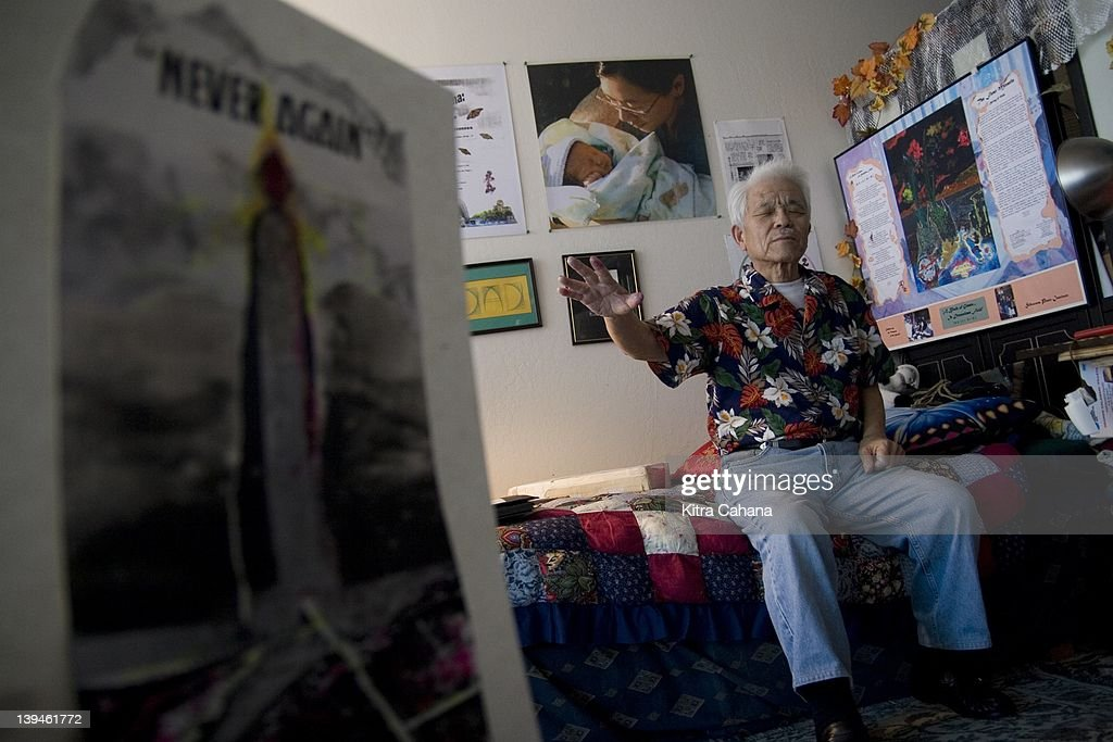 Blind artist, peace activist and atomic bomb survivor, Takashi Tanemori recounts his story of survival as a young boy in Hiroshima on May 6, 2007 in his home in Berkeley, California. His collage art pieces deal with his experiences of August 6, 1945 and the topic of forgiveness. The extreme brightness of the bomb was the cause of Takashi's progressive loss of sight in later life. He maneuvers around Berkeley with the aid of his seeing-eye guide-dog, golden retriever, Yuki.