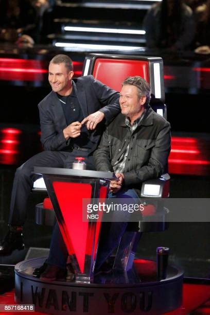 THE VOICE 'Blind Auditions' Pictured Adam Levine Blake Shelton