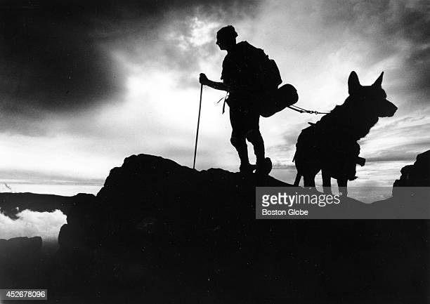 Blind hiker Bill Irwin travels along the Appalachian Trail with his dog 'Orient' in 1990