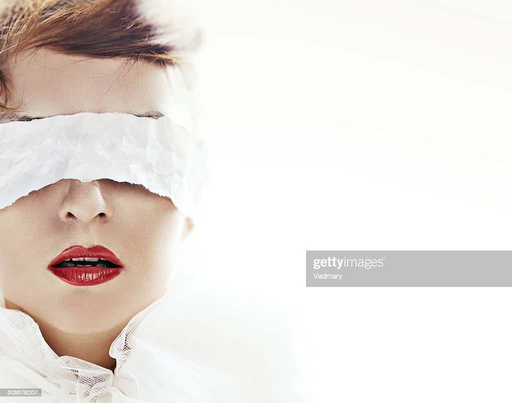 blindfolded : Stock Photo
