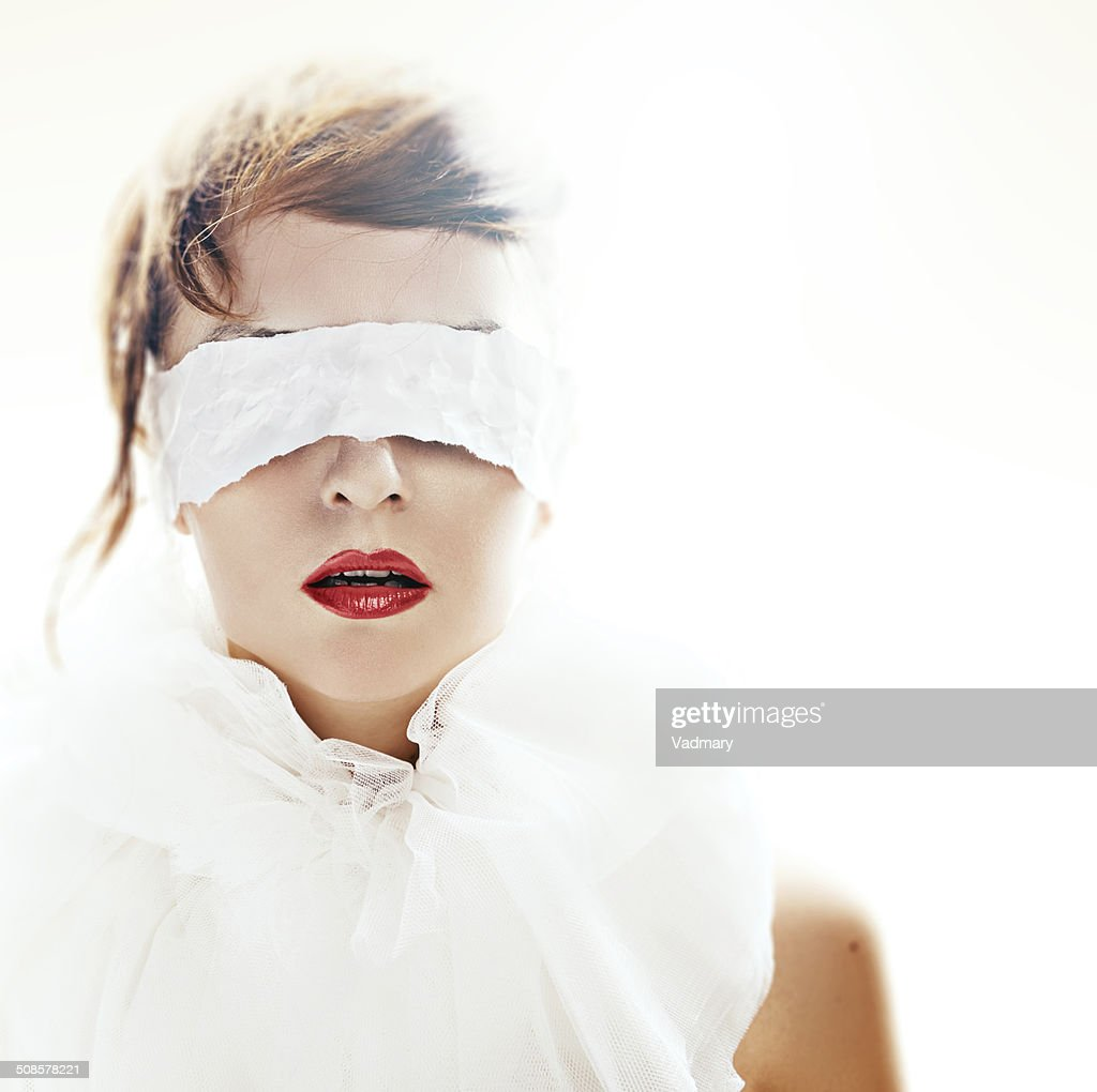blindfolded : Stockfoto