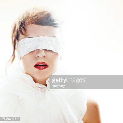 blindfolded : Stock Photo