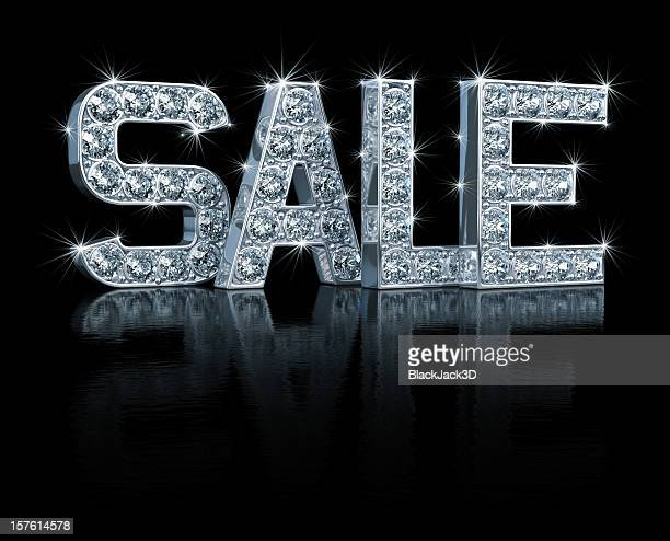 Blinged out letters spelling sale