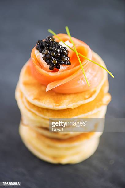 Blini with Smoked Salmon and Caviar