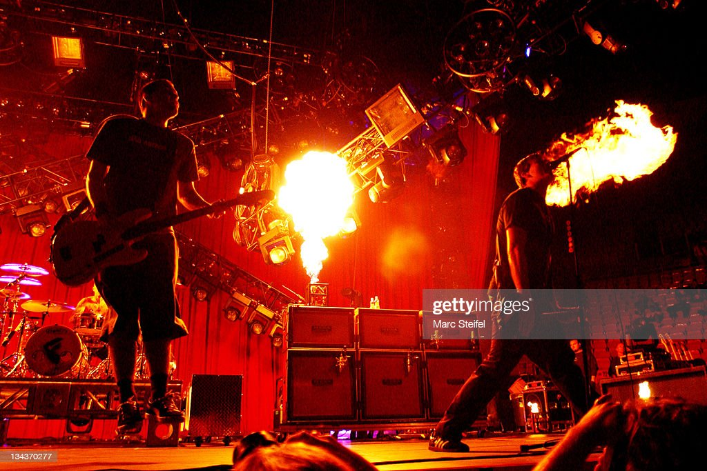 Blink 182 during Blink 182 Live In New York at Saratoga Performing Arts Center in Saratoga New York United States