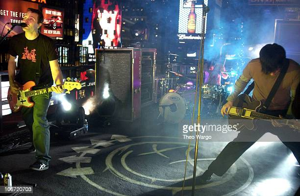 Blink 182 during Kid Rock Blink 182 and Puddle of Mudd Visit MTV's 'TRL' During Spankin' New Music Week November 11 2003 at MTV Studios Times Square...