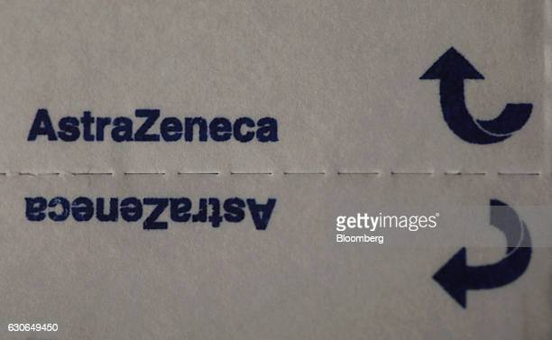 A blister pack containing Zolmitriptan migraine tablets produced by AstraZeneca Plc sits on a pharmacy counter in this arranged photograph in London...