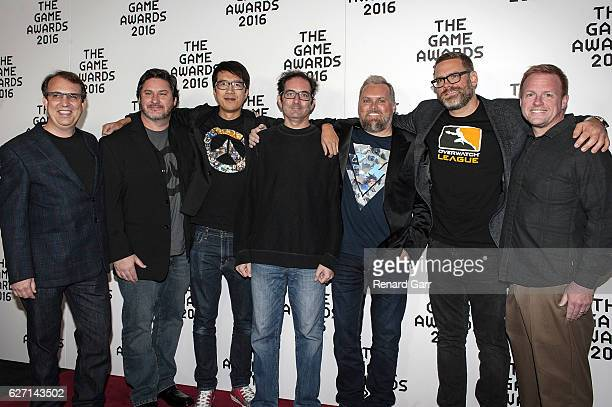 Blizzards Creative team of Overwatch attends 2016 Game Awards at Microsoft Theater on December 1 2016 in Los Angeles California