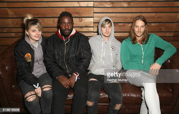 Bloc Party attends the PANDORA Discovery Den SXSW on March 19 2016 in Austin Texas