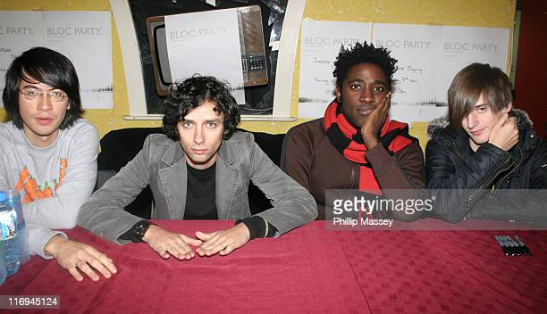 Bloc Party during Bloc Party InStore Appearance at Tower Records in Dublin November 7 2005 at Tower Records in Dublin Ireland