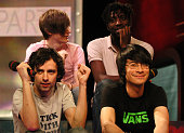 Bloc Party during Bloc Party Visits Fuse's 'Daily Download' April 8 2005 at Fuse Studios in New York City New York United States