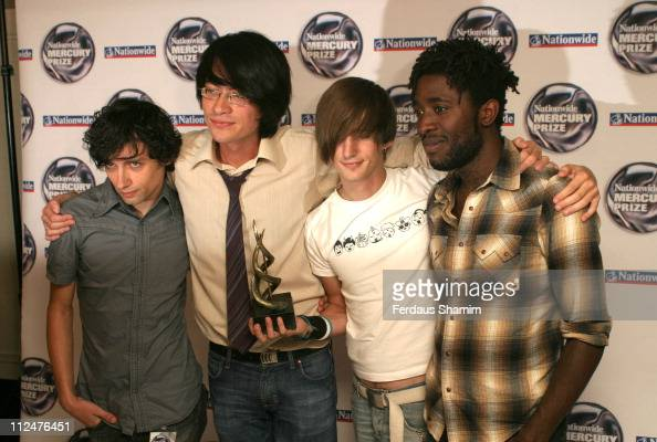 Bloc Party during Nationwide Mercury Prize Press Room at Grosvenor House Hotel london in London Great Britain