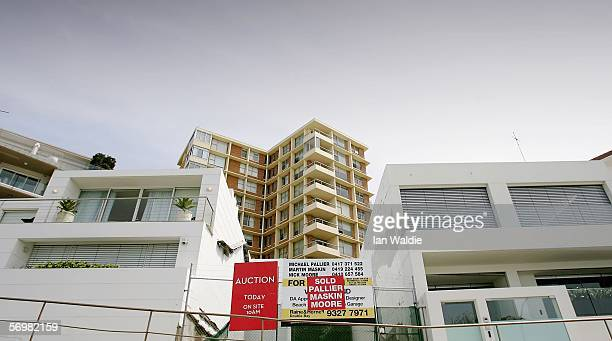 A block of land lies vacant after auction where it became Australia's most expensive strip of residential land March 3 2006 in Sydney Australia The...