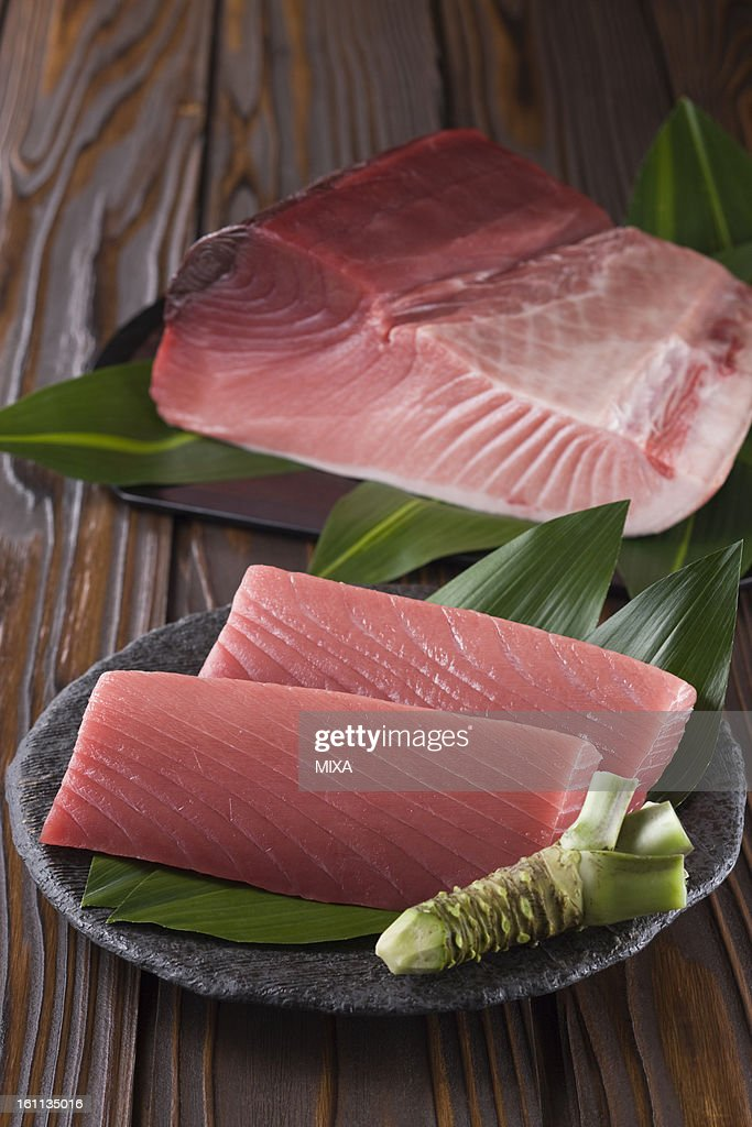 Block of Pacific Bluefin Tuna and Sashimi Block of Medium Fatty Tuna