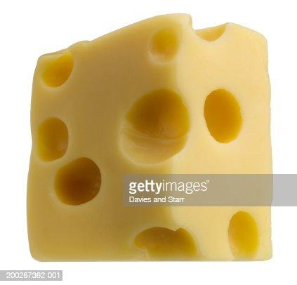 Block of Swiss cheese : ストックフォト