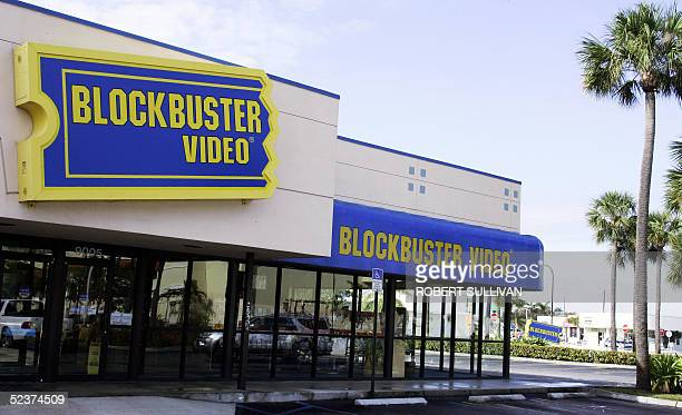 Blockbuster video rental store is shown 11 March 2005 in Miami Florida Blockbuster Inc the world's largest video rental chain reported a slim profit...