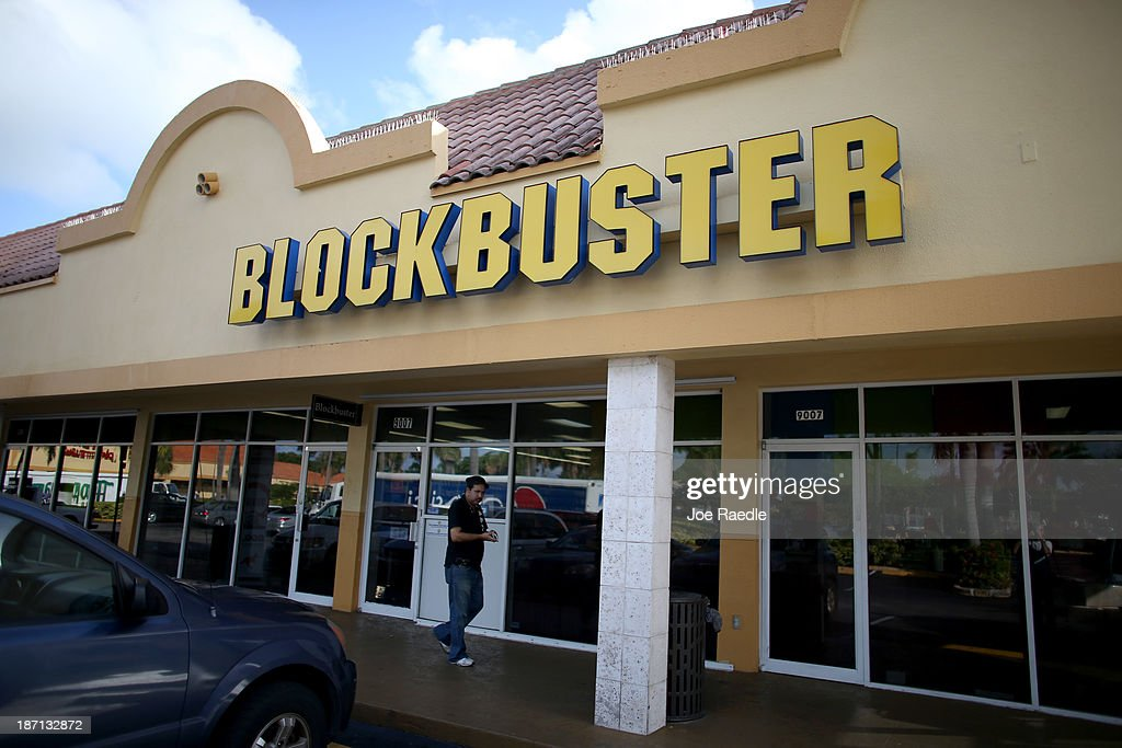 A Blockbuster video store is seen on November 6, 2013 in Miami, Florida. Blockbuster announced today that it will close its 300 remaining U.S. stores by early January.