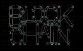 Steampunk font. Block chain inscription from chain gear elements