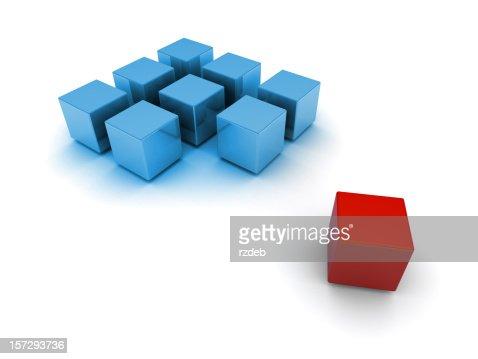 Blocks 3d blue and red : Bildbanksbilder